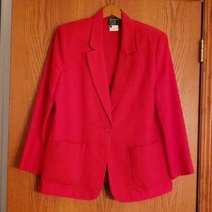 Vintage Bright Red Women's Blazer - Sz 10P